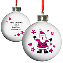 Personalised Spotty Santa Bauble - Product number 1446843
