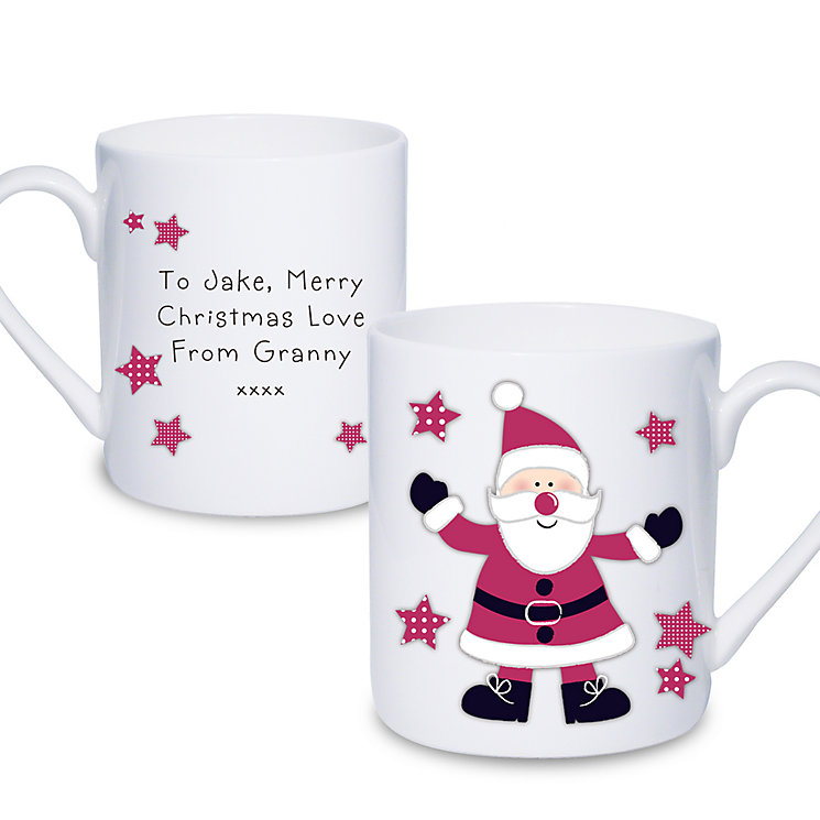 Personalised Spotty Santa China Mug - Product number 1446851