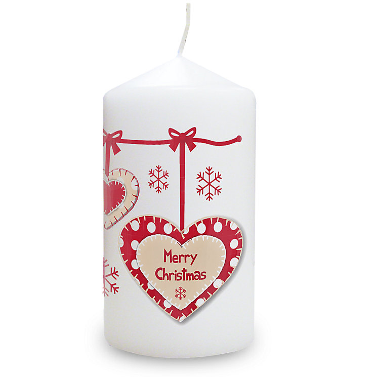 Personalised Christmas Heart Candle - Product number 1446916
