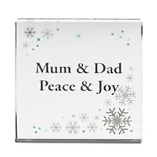 Personalised Snowflakes Small Crystal Token - Product number 1446967