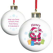 Personalised Santa Merry Christmas Bauble - Product number 1447009