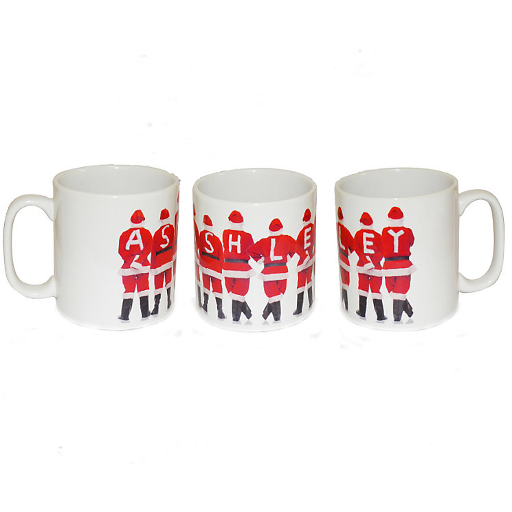 Personalised Santa Backs Mug - Product number 1447122