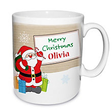 Personalised Santa Merry Christmas Mug - Product number 1447130