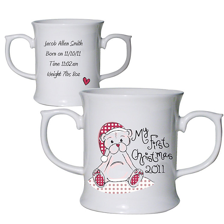 Personalised  Cute Teddy My 1st Xmas Loving Mug - Product number 1447173