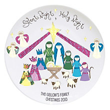 Personalised Silent Night Keepsake Plate - Product number 1447254