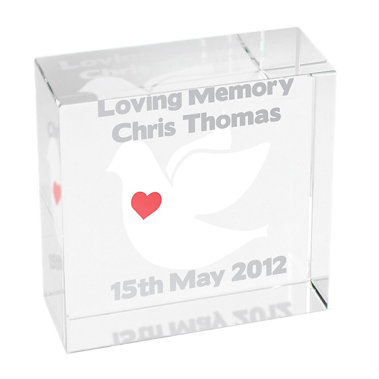 Personalised Dove Crystal Token - Product number 1447297