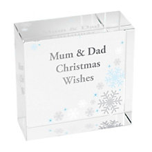 Personalised Snowflake Medium Crystal Token - Product number 1447300