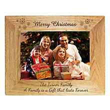 Personalised Snowflake Wooden Picture Frame - Product number 1447351