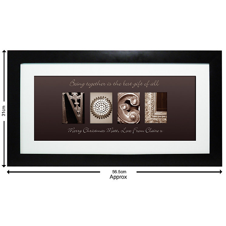 Personalised Affection Art Noel Large Frame - Product number 1447459