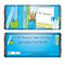 Personalised Blue Teachers Books Chocolate Bar - Product number 1447556
