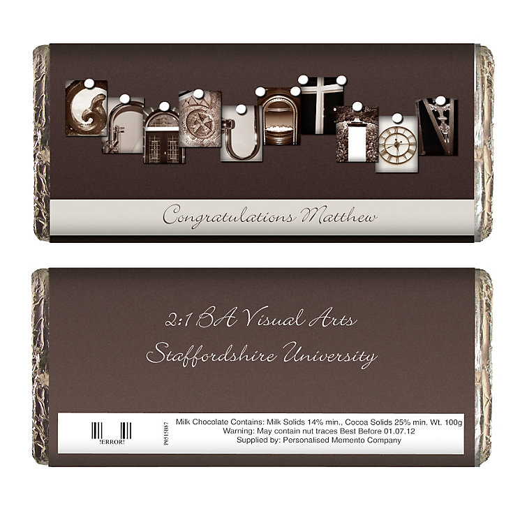 Personalised Affection Art Graduation Chocolate Bar - Product number 1447572