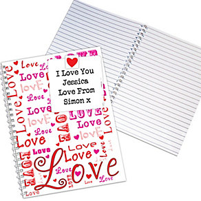Personalised Lots of Loves A5 Notebook - Product number 1447610