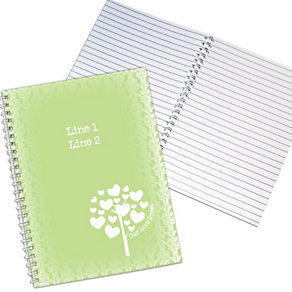 Personalised Love Grows A5 Notebook - Green - Product number 1447637