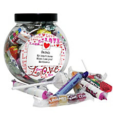 Personalised Lots Of Love Sweet Jar - Product number 1447769