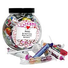Personalised Lots Of Love Sweet Jar - Product number 1447769