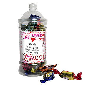 Personalised Lots Of Love Toffee Jar - Product number 1447785