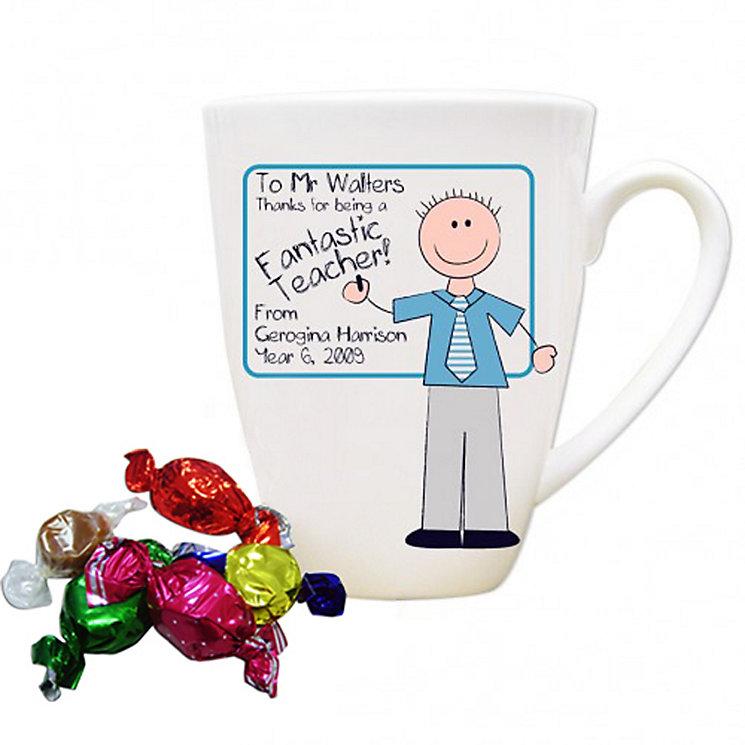 Personalised Blue Teachers Whiteboard Mug - Product number 1448005