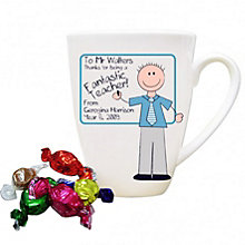 Personalised Blue Teachers Whiteboard Mug - Product number 1448005