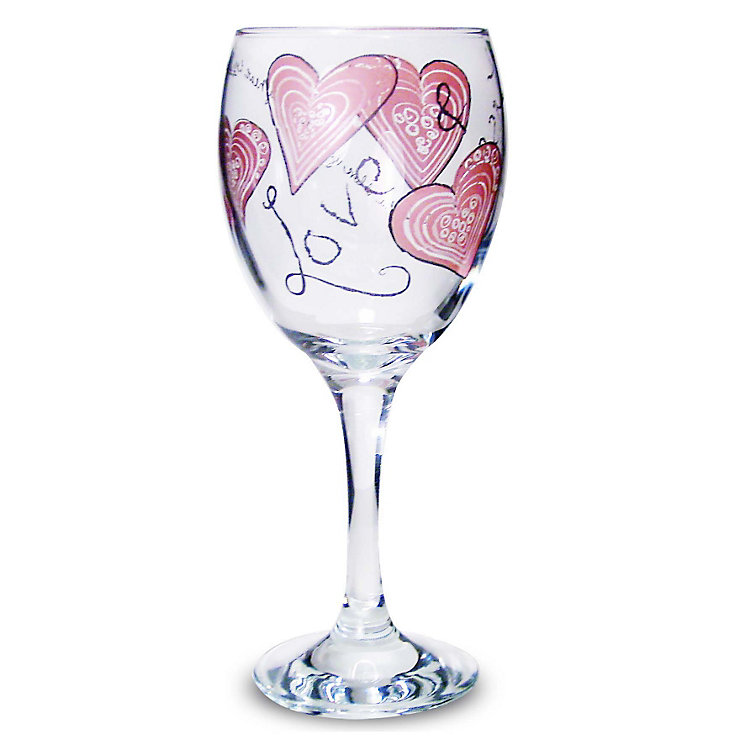 Personalised Love And Kisses Wine Glass - Product number 1448072