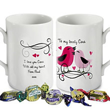 Personalised Love Birds Mug - Product number 1448099