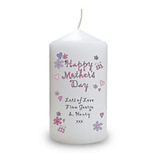 Personalised Flowers And Butterflies Mothers Day Candle - Product number 1448242