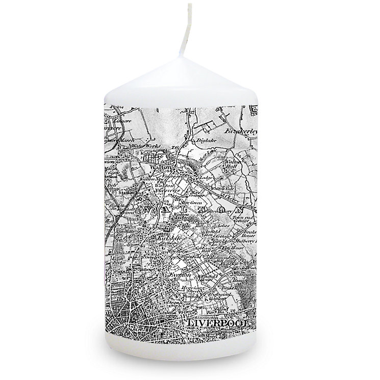 Personalised Map Candle - Old Series 1805 - 1874 - Product number 1448439