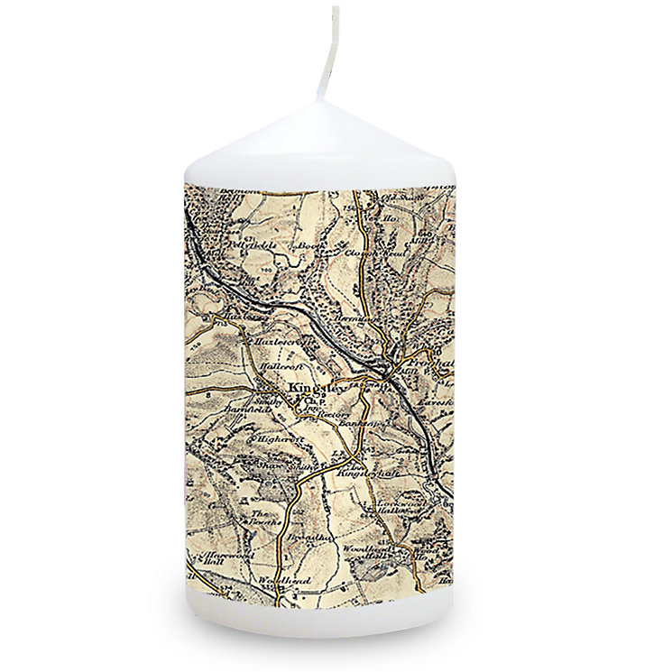Personalised 1896 - 1904 Revised New Map Candle - Product number 1448447