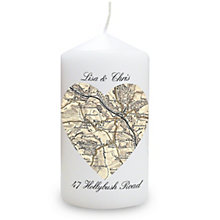 Personalised 1896-1904 Heart Map Candle - Product number 1448498