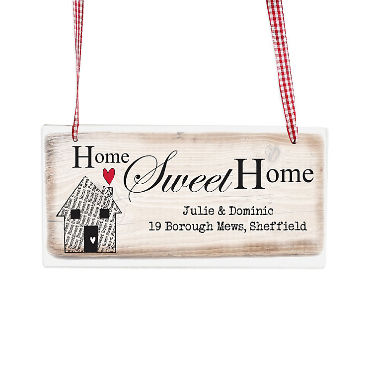 Personalised Home Sweet Home Wooden Sign - Product number 1448692