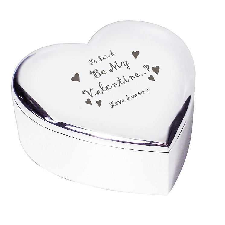 Engraved Be My Valentine Heart Trinket Box - Product number 1448749