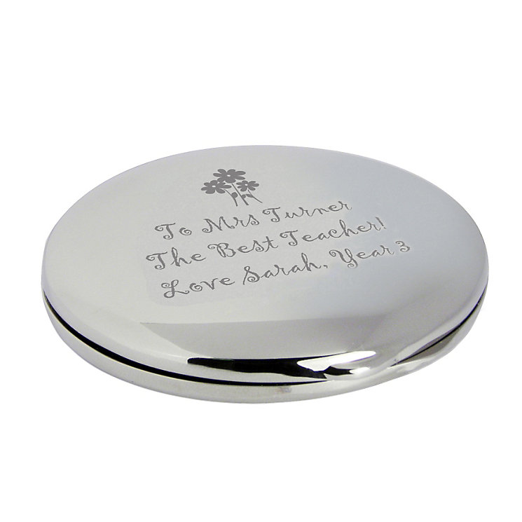 Engraved Flowers Round Compact - Product number 1448773