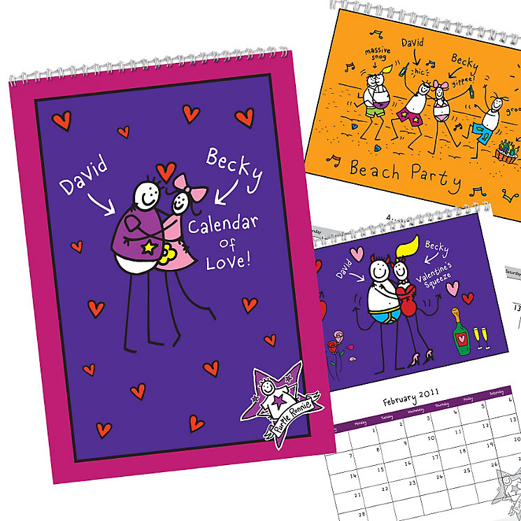 Personalised Purple Ronnie Couples Calendar - Product number 1448846