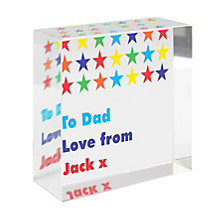 Personalised Colourful Stars Crystal Token - Product number 1448862