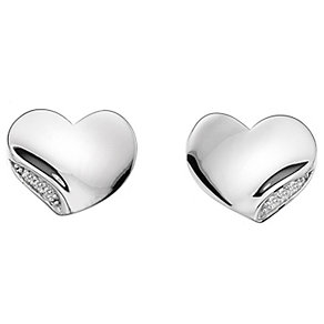 Hot Diamonds Simply Sparkle Silver Heart Stud Earrings - Product number 1449206