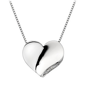 Hot Diamonds Simply Sparkle Diamond Set Solid Heart Pendant - Product number 1449214