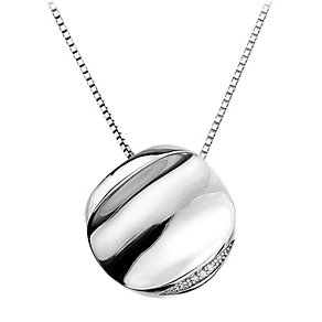 Hot Diamonds Simply Sparkle Silver Solid Circle Pendant - Product number 1449222