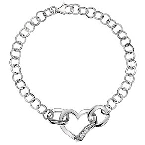 Hot Diamonds Simply Sparkle Diamond Set Heart Bracelet - Product number 1449281