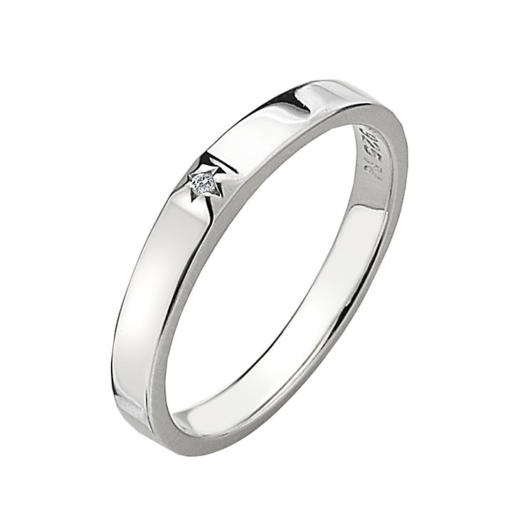 Hot Diamonds Affine Silver Diamond Solitaire Ring Size L - Product number 1449370