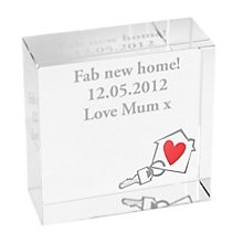 Personalised New Home  Crystal Token - Product number 1449389