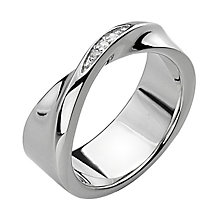 Hot Diamonds Simply Sparkle Diamond Set Twist Ring  - Size L - Product number 1449397