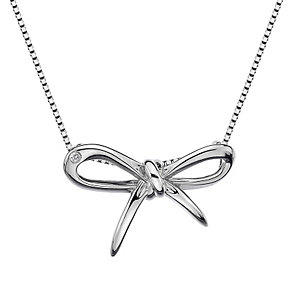 Hot Diamonds Flourish Sterling Silver Diamond Bow Pendant - Product number 1449419