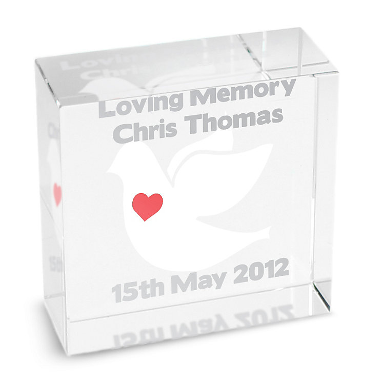 Personalised Dove Medium Crystal Token - Product number 1449516