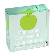 Personalised Teachers Apple Crystal Token - Product number 1449532