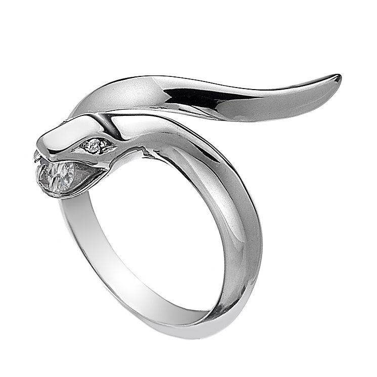 Hot Diamonds Veleno Silver Diamond Serpent Ring Size P - Product number 1449540