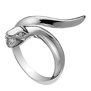 Hot Diamonds Veleno Silver Diamond Serpent Ring Size P - Product number 1449540