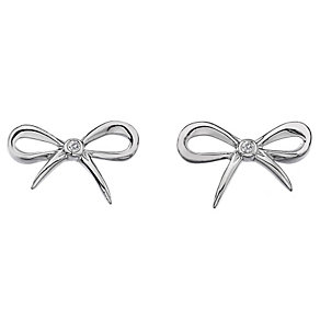 Hot Diamonds Flourish Sterling Silver Diamond Earrings - Product number 1449583