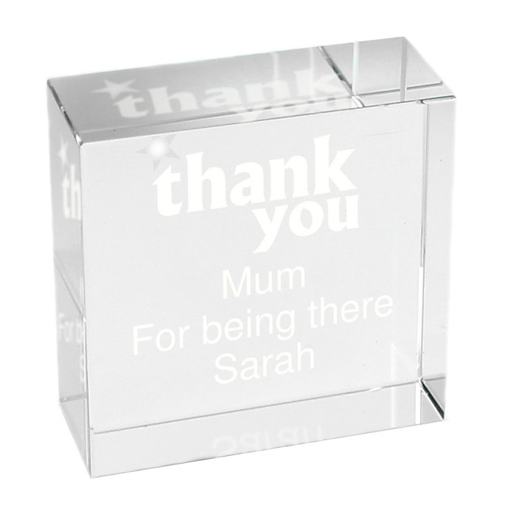 Personalised Thank You Crystal Token - Product number 1449834