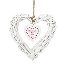 Personalised Wooden Wicker Heart Inner Heart Design - Product number 1449893