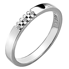 Hot Diamonds Affine Sparkle Silver Diamond Ring Size P - Product number 1450018
