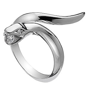 Hot Diamonds Veleno Silver Diamond Serpent Ring Size L - Product number 1450085